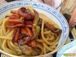 Spaghetti alle verdure come dal cinese