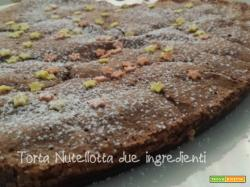 Torta Nutellotta ai due ingredienti- ricetta per una torta veloce