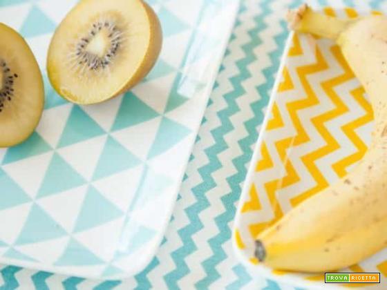 Frullato di banana e kiwi giallo per ritrovare un po' di energia