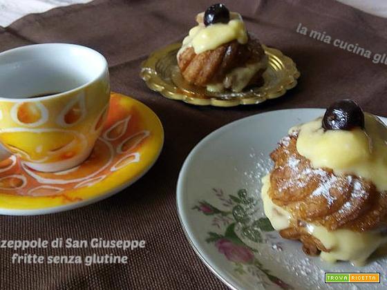 Zeppole di San Giuseppe fritte senza glutine