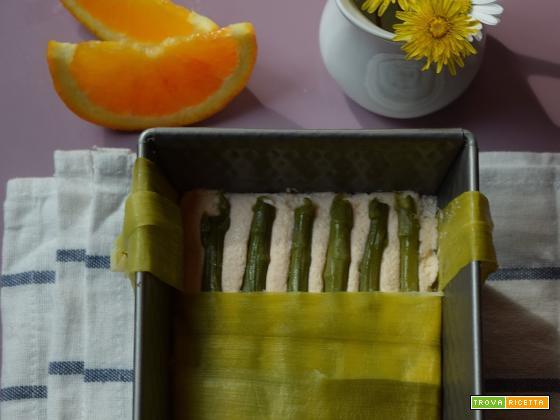 Terrina di salmone, asparagi e riso rosso integrale all'arancia per l'MTC n°64