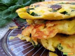 Frittatine veloci di patate e spinaci