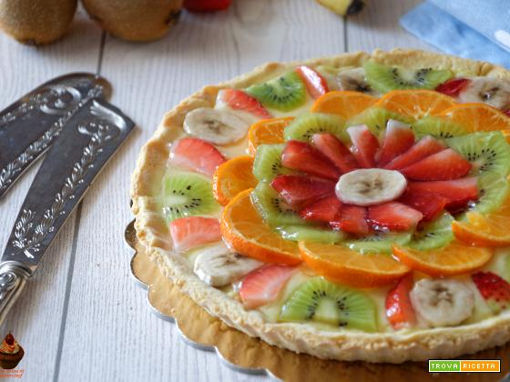 Crostata alla frutta con crema pasticcera