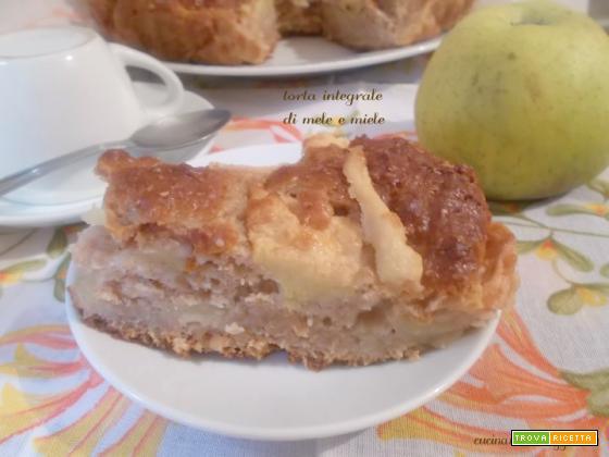 Torta integrale di mele e miele