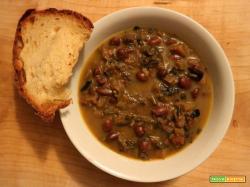 Zuppa alle 4 foglie e fagioli