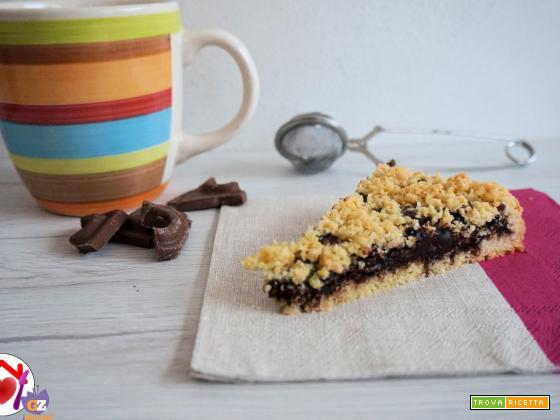 Crostata sbriciolata al cioccolato fondente