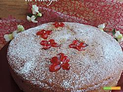Torta Nua con yogurt e marmellata di ciliegie (senza burro)