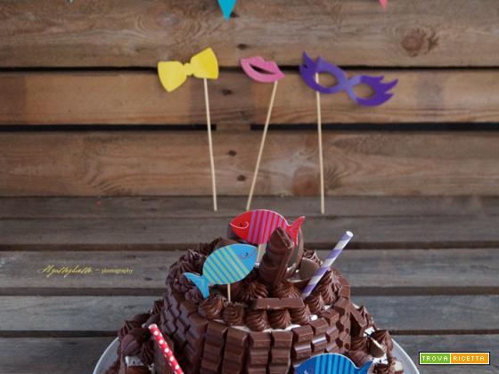 (Quasi) Kinder Cake per il mio piccolo ometto ?