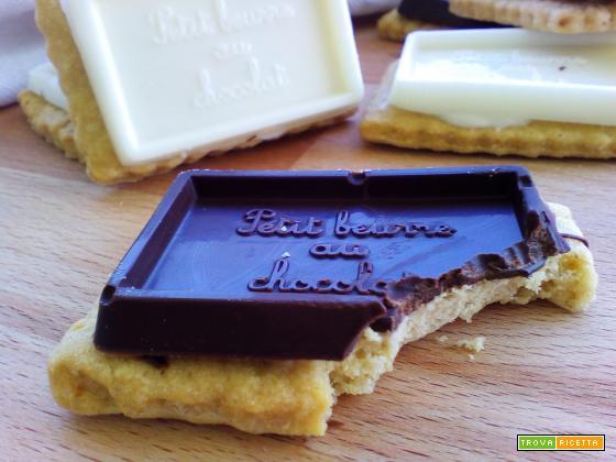 Ricetta Oro Ciok ovvero Le Petits Beurre au Chocolat