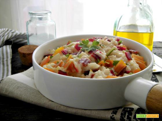 Risotto con coste di bietola e gorgonzola