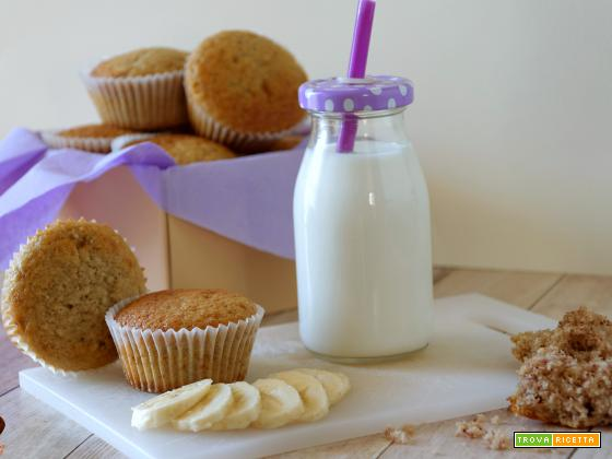 Muffin alla banana morbidissimi