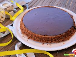 Crostata morbida al cioccolato fondente