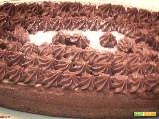 Torta bauletto cioccolato e nutella