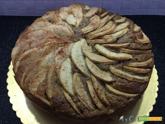 Torta integrale con mele e ricotta, fatta col CuCo