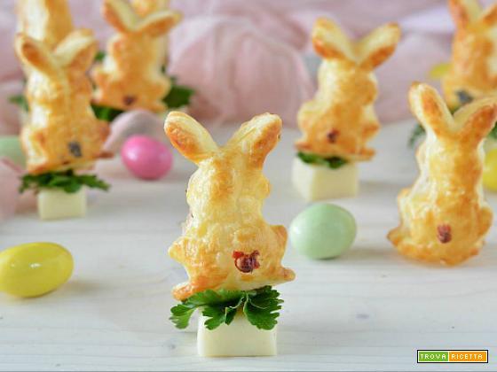 Coniglietti salati di pasta sfoglia
