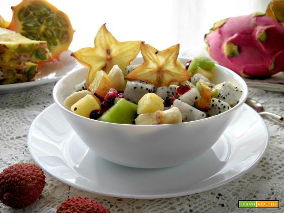 Fresca e gustosa macedonia esotica