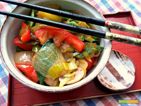 Verdure saltate in olio di sesamo (versione cinese)