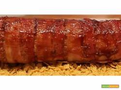 Rotolo di carne con formaggio e bacon