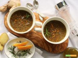 Lenticchie stufate al profumo di arancia e zenzero