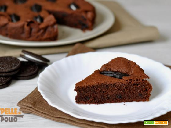 Torta brownies con Oreo