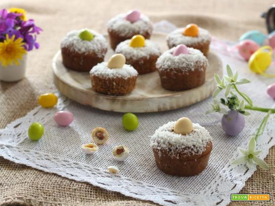 Vegan muffin pasquali cocco e cacao – veloci e golosi
