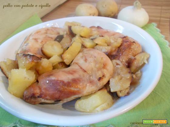 Pollo con patate e cipolle