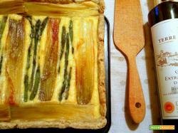 Crostata salata porri e asparagi