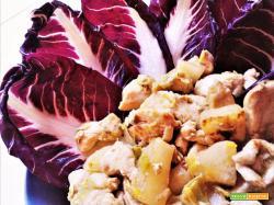 Insalata di pollo con daikon
