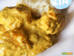 Polpettine di pollo al curry