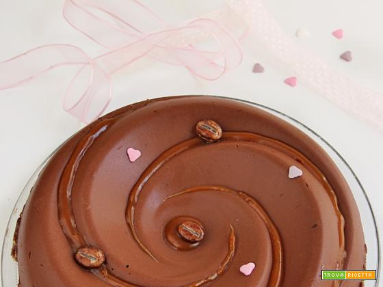 MOUSSE AL CIOCCOLATO con BASE AL GIANDUIA E CAFFE'