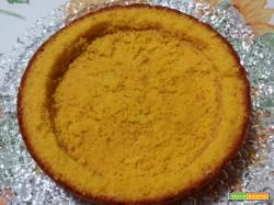 Torta Mimosa alla Crema di Mascarpone Meringato e Pesche sciroppate