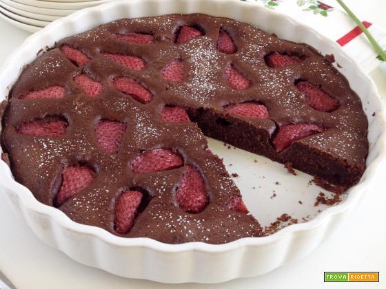 Clafoutis alle fragole e cioccolato