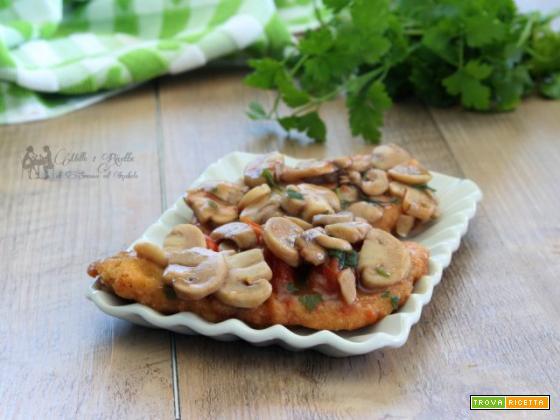 Cotolette di pollo ai funghi