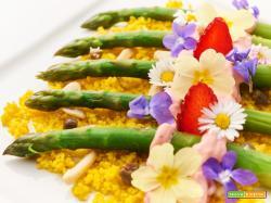 couscous agli asparagi e maionese alle fragole