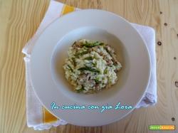 Risotto con asparagi selvatici e salsiccia