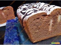 Plumcake di pere e cioccolato senza glutine