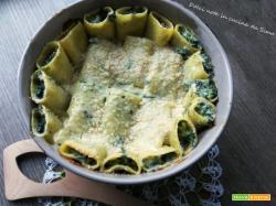 Paccheri al gratin con spinaci e ricotta