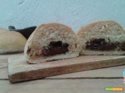 Panini con cuore al cioccolato
