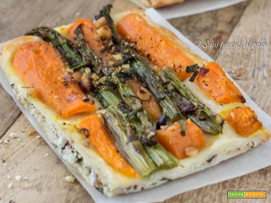 Sfoglia delicata agli asparagi e carote