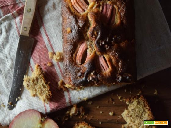 Cake di mele, avena e noci (senza lattosio)