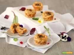Sformatini mediterranei vegetariani albumi e verdure
