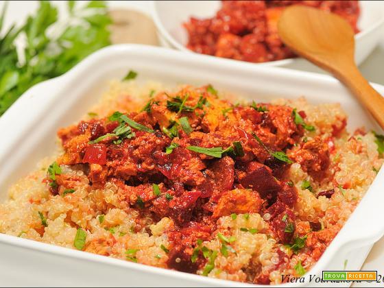 Quinoa hot con il tofu