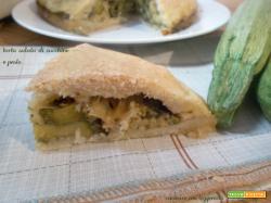 Torta salata di zucchine e pesto