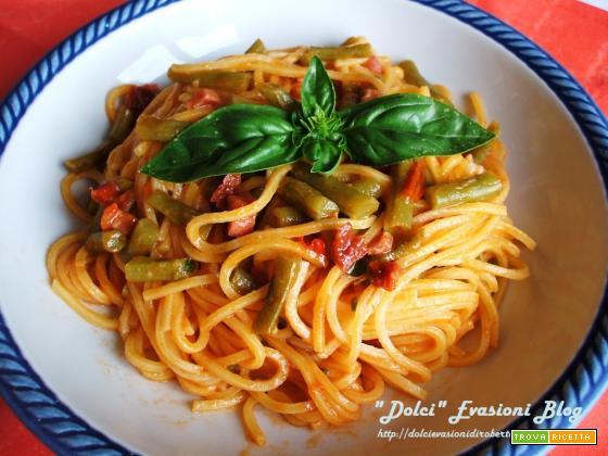 Spaghetti alla Chitarra con Fagiolini