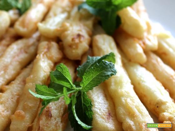 Asparagi bianchi fritti