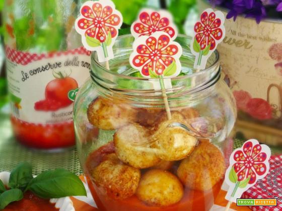 Polpette di ricotta con salsa ketchup homemade