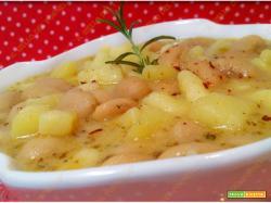 Zuppa di fagioli cannellini e patate