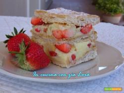 Torta millefoglie alle fragole ricetta veloce
