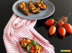 Barchette di melanzane al forno – ricetta contorno sfizioso