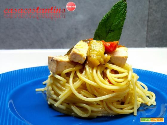 Spaghetti spada e melanzane light